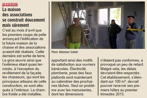 La travaux jasseron for Association travaux maison